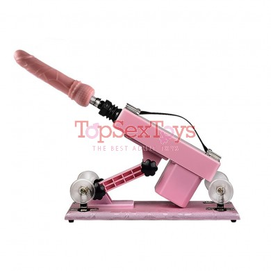 Sex Machine Automatic Make Love Robot Fucking Machines with Super Big Dildo Pink