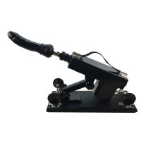 Female Masturbation Sex Machine Gun with Many Dildo Accessories Retractable Love Machine for Women Black