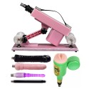 Sex Machine for Men and Women Retractable Adjustable Speeds Fucking Machines Sex Toys Pink