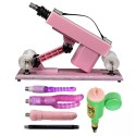 Sex Machine Gun Set per uomini e donne Fucking Machine con Big Dildo Pink